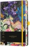 Caiet cu elastic Eden 13 x 21 cm, Cockatiel, velin Castelli
