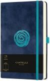 Caiet cu elastic Velluto 13 x 21 cm, Rose, velin Castelli
