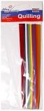 Hartie Quilling 80 gr. 180 x 5 mm, 300 coli 10 culori