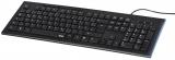 Tastatura multimedia cu fir Anzano, benzi luminate, layout RO Hama