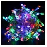 Instalatie pentru pomul de Craciun, 100 becuri LED, multicolora