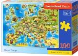 Puzzle Harta Europei, 100 piese, Castorland