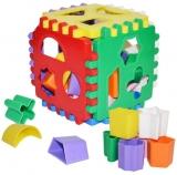Cub educativ bebe, 13 cm, 24 piese Robentoys