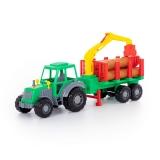 Jucarie Tractor si remorca cu lemne 35370 Altay Polesie