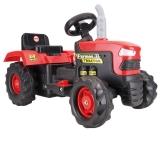 Tractor cu acumulator pentru copii, 6V, negru/rosu Dolu