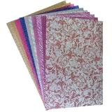 Carton color A4 cu sclipici 250g set 10 bucati