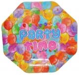 Farfurii carton pentru petrecere, 10 buc/set, 24 cm