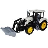 Tractor pentru copii, cu incarcator, Farm Truck, 45 cm, alb