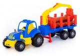 Jucarie Tractor si remorca cu lemne 44815 Hardy Polesie
