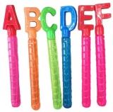 Baloane de sapun, model tub Alfabet, diverse litere si culori