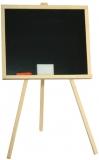 Tablita de lemn cu suport, neagra