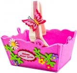Cosulet decorativ pentru Paste dreptunghiular roz