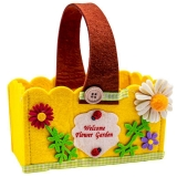 Cosulet decorativ pentru Paste dreptunghiular galben