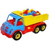 Camion plastic 60 cm + 80 cuburi