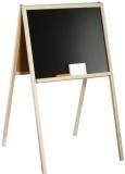 Tablita de lemn cu suport + 3 accesorii, alb-negru