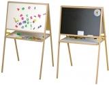 Tablita magnetica cu suport + accesorii, 106 cm, alb-negru