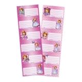 Pachet etichete scolare Printesa Sofia 6 etichete/pagina 25 pagini/set