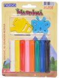 Plastilina 8 culori/set cu forme, pe blister, Nebo