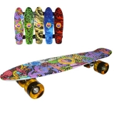 Placa skateboard, 55 cm, roti silicon, diverse modele, Grafitti