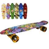 Placa skateboard, 55 cm, roti silicon, led, diverse modele, Grafitti