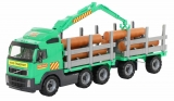 Jucarie camion cu remorca si lemne Volvo PowerTruck Wader Polesie