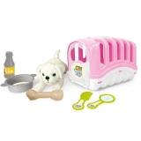 Catelus cu cusca si accesorii, My First Pet, roz Dolu