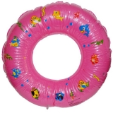 Colac gonflabil baie copii, 80 cm, cu alveole, roz