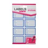 Pachet etichete scolare mici 8 etichete/pagina 5 pagini/set