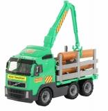 Camion Volvo Powertruck cu lemne, 58331, 45 cm, Wader Polesie