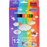 Creioane color Hexagonale Jumbo 12 buc/set Nebo