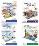 Set de joaca 4 Puzzle-uri 3D CubicFun
