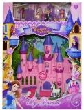 Set de joaca, Castel muzical cu 2 papusi si accesorii