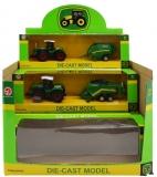 Tractor de metal cu utilaj, in cutie, 6 buc