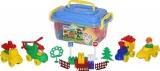 Set de joaca, Cuburi si jucarii, 128 buc/cutie, Polesie