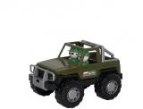 Jucarie Jeep Militar cu 2 soldati, 23 cm, Cavallino