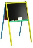 Tablita de lemn, 2 fete, cu suport color