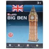 Puzzle 3D Big Ben, 13 piese, Cubic Fun