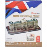 Puzzle 3D Buckingham Palace, 72 piese, Cubic Fun