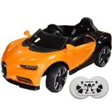 Masina sport portocalie cu acumulator RC si 2 motoare 12V