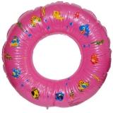 Colac gonflabil baie copii, 60 cm, cu alveole, roz