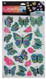 Stickere decorative fluturasi cu sclipici