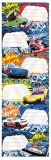 Etichete scolare Hot Wheels 150 buc/set Starpak