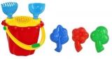 Galeata nisip cu 6 accesorii, rosu/galben, Tupiko
