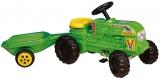 Tractor cu pedale si remorca verde Fermier