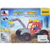 Joc construcții metal Excavator 138 piese