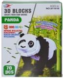 Joc creativ 3D din burete, 70 piese, model Panda