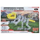 Joc construcții metal Dinozaur 157 piese