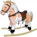 Balansoar unicorn lemn si plus, cu rotile