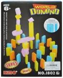 Domino din plastic, 38 piese, multicolor
