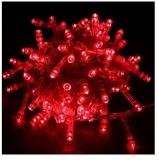 Instalatie pentru pomul de Craciun, 100 becuri LED, 3.3 m, culoare rosu